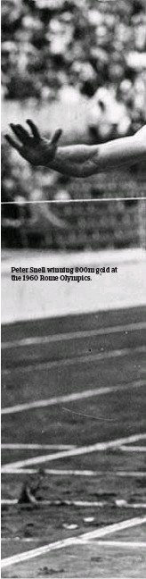 ??  ?? Peter Snell winning 800m gold at the 1960 Rome Olympics.