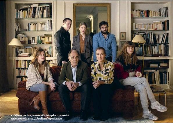 ??  ?? Diffusée sur Arte, la série « En thérapie » a rencontré un beau succès, avec 1,35 million de spectateurs.