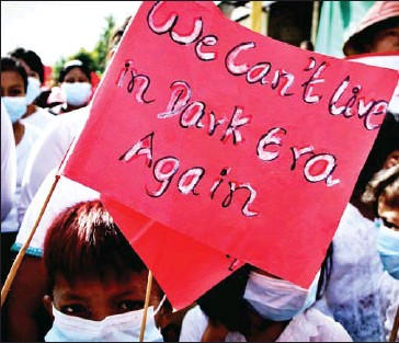 ?? AFP ?? Myanmar has been in turmoil since the military ousted civilian leader Aung San Suu Kyi on February 1.