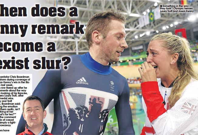 ??  ?? Something in the way they look? Olympic heroes Laura Trott and Jason Kenny.