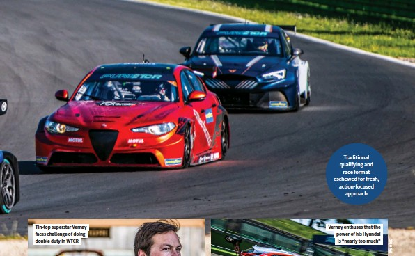 ??  ?? Traditional qualifying and race format eschewed for fresh, action-focused approach
