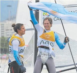 ??  ?? Carranza y Lange en Río 2016, cuando lograron el oro