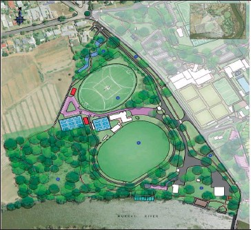 ??  ?? An artist impression of the proposed John Foord Oval precinct redevelopment featuring a second football oval.