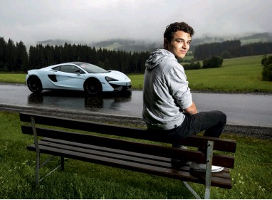 ??  ?? Waiting for his next move – one in which he's hoping to trade the Mclaren 570GT for a race seat