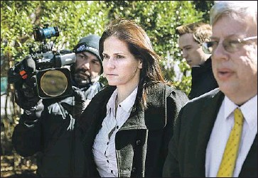 ?? Nathan Klima Boston Globe ?? LAURA JANKE, a former USC soccer coach, will plead guilty to a racketeering charge and forfeit $134,213 in bribes. Prosecutors will recommend a prison sentence at the low end of a range between 27 and 33 months.