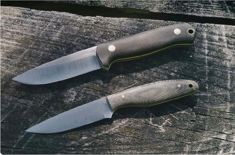 ??  ?? The Pil­grim LT and the Lap­wing from Nord­smith Knives cover your needs in the kitchen, at the camp­site and be­yond.