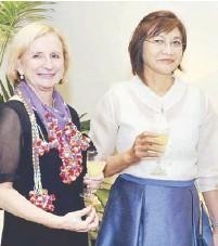 ??  ?? Ambassador Amanda Gorely and Undersecretary Nora Terrado.