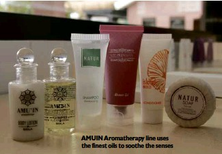 ??  ?? AMUIN Aromatherapy line uses the finest oils to soothe the senses