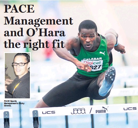 ?? FILE ?? PACE Sports Management's Ricky Simms. Michael O'Hara: It is a dream come true.
