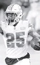 ??  ?? Dolphins cornerbackXavien Howard leads theNFLwith seven interceptions. DOUG MURRAY| AP