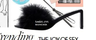 ??  ?? Sandals, £595, BALENCIAGA