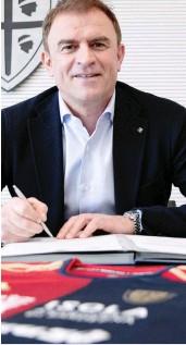 ?? SPANO/CAGLIARI CALCIO ?? Il nuovo tecnico del Cagliari Leonardo Semplici, 53 anni