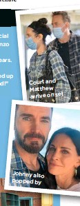 ??  ?? Court and Matthew arrive on set