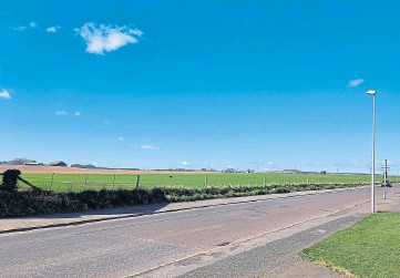 ??  ?? Scotia Homes hopes to be able to build the houses on farmland on the western edge of Arbroath.