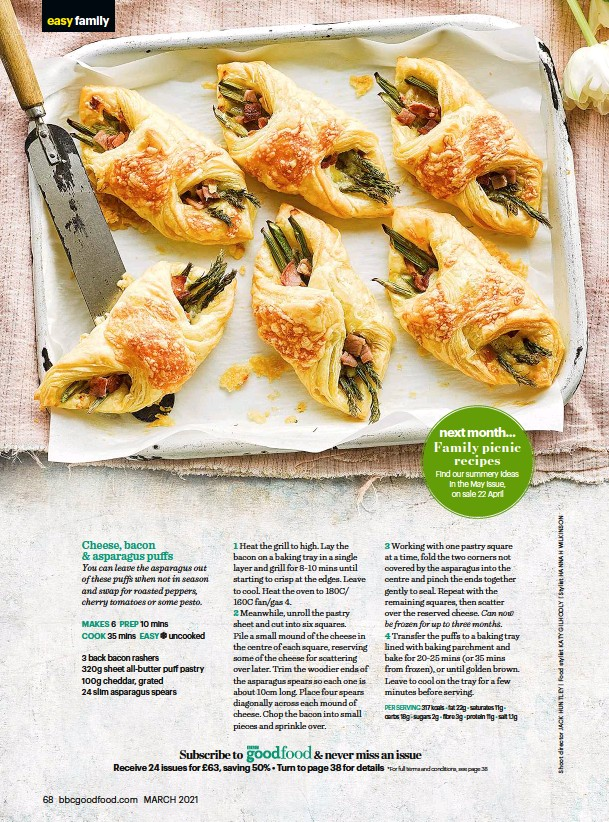 ??  ?? Find our summery ideas in the May issue, on sale 22 April Family picnic recipes next month...