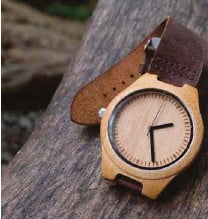 ??  ?? Eco-friendly and durable watches made of bamboo by Kawayan Lifestyle Accessories.