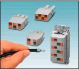 ??  ?? Bild 3: Steckverbinder HC-HS06 und Module für Leitungen bis 6,0 mm²: Auch hier wird einfach mit Push-in-Anschluss verdrahtet.