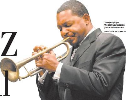 ?? JANA CHYTILOVA, THE OTTAWA CITIZEN ?? Trumpet player Wynton Marsalis is a jazz A-lister for sure.
