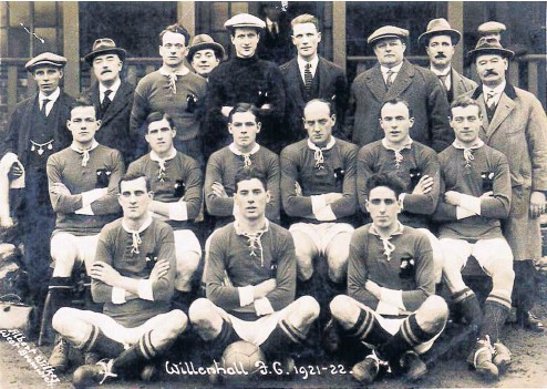 ??  ?? Willnehall FC, very nearly a century ago