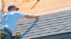?? ROBERT MAXWELL ?? Underlay, shingle choice and installation skills are the three factors behind any success asphalt re-shingling job.