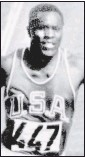 ?? THE ASSOCIATED PRESS ?? Rafer Johnson, a track and field and basketball star at UCLA, setworld records in the decathlon three times andwon the gold medal in the 1960 Olympics.