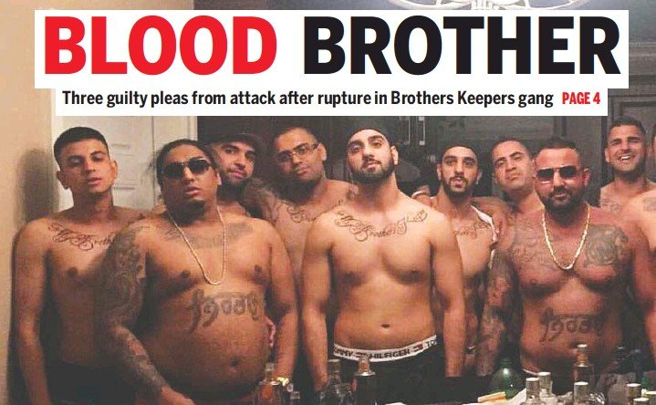 ??  ?? Brothers Keepers' Gavin Grewal, second from left. Keepers founder Grewal was shot to death Dec. 22, 2017, in retaliation for the shooting death of former Keeper Randy Kang.