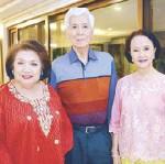 ??  ?? Thelma Gana with Bert and Nonie Basilio.