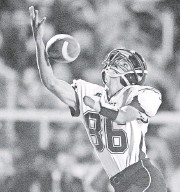 ?? ANDY COLWELL, ERIE (PA.) TIMES-NEWS ?? Kris Silbaugh has set the school record for career receiving yards for Cambridge Springs (Pa.) High School.