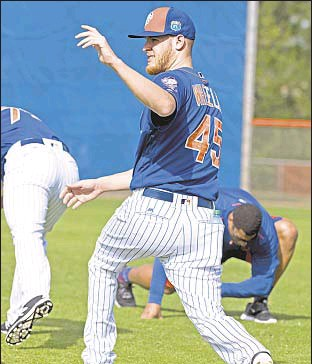 ?? HOWARD SIMMONS/DAILY NEWS ?? Zack Wheeler, 11 months removed from Tommy John surgery, is expected to throw off mound for first time later this week.