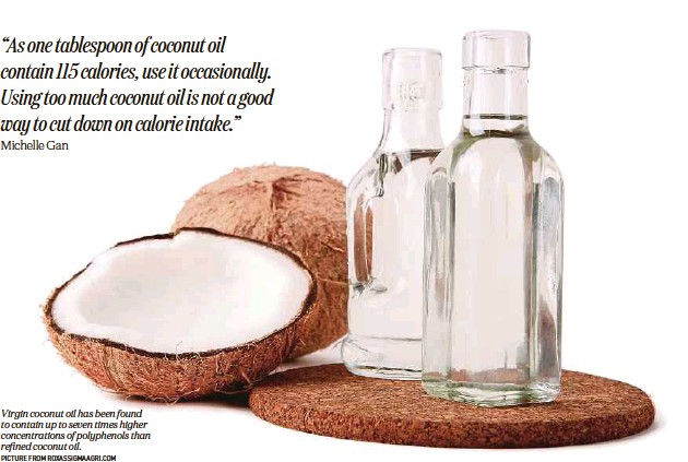 ?? Picture from roxassigmaagri.com ?? Virgin coconut oil has been found to contain up to seven times higher concentrations of polyphenols than refined coconut oil.