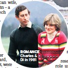 ??  ?? ROMANCE Charles & Di in 1981