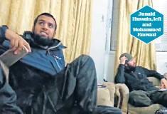 ??  ?? Junaid Hussain, left and Mohammed Emwazi