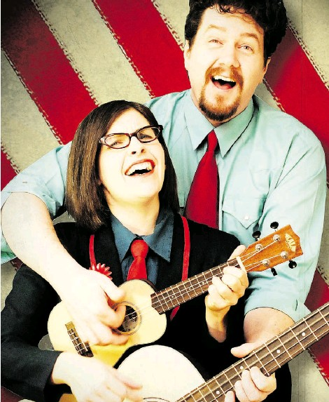 ?? Photos: Supplied ?? Marissa Kochanski and Mike Siek comprise The Skips. The Edmonton folk-pop duo brings its quirky show to the 34th annual International Children's Festival in St. Albert, which will run May 26-30.