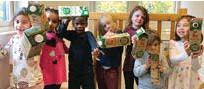 ?? FOTO: UPPLANDS VÄSBY KOMMUN ?? BARNRÅDET. Från vänster: Chanel, Elsa, Fazil, Matheus, Juni, Kende och Maria på Skogsbrynet.