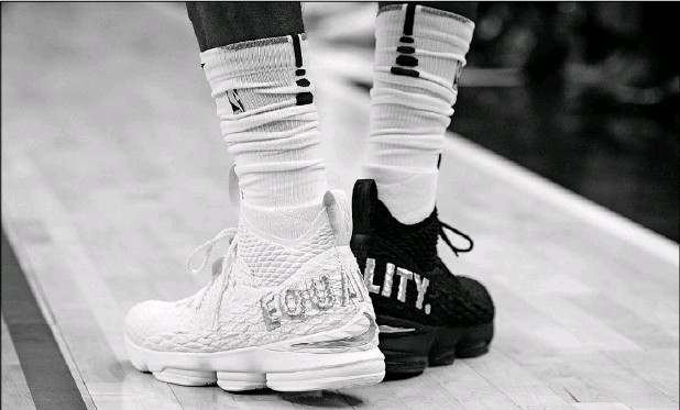 ?? Nick Wass/The Associated Press ?? The Cleveland Cavaliers' LeBron James sported shoes emblazoned with the word equality on the heels during a game in December. Sneaker enthusiasts eagerly await NBA All-Star weekend — this weekend — when the latest shoes debut, but the weeks leading up...