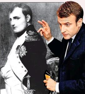 ??  ?? Napoleon Bonaparte, Emmanuel Macron: die hohe Stirn …