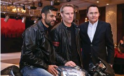 ??  ?? (L-R) Ajinkya Firodia, managing director, Motoroyale, Stuart Garner, CEO and owner, Norton Motorcycle and Andreas Leuthe, business development manager for the new joint venture