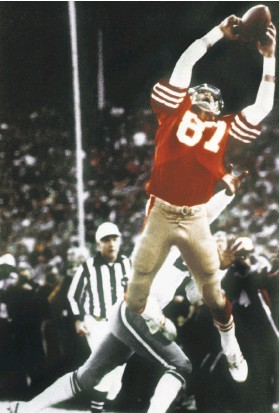 ?? Phil Huber / Associated Press 1982 ?? Willie Mays made his great catch in the 1954 World Series. Dwight Clark hauled in a pass from Joe Montana in the NFC Championship Game in January 1982.