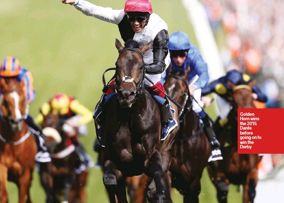 ??  ?? Golden Horn wins the 2015 Dante before going on to win the Derby
