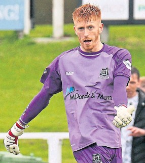 ??  ?? Plenty of pos­i­tives: For El­gin City goal­keeper Thomas McHale