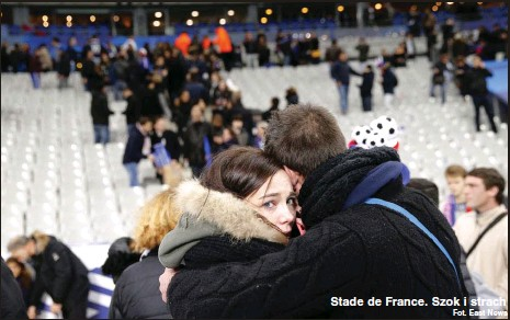 ?? Fot. East News ?? Stade de France. Szok i strach