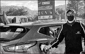 ?? Eduardo terán / el comercio ?? • Una gasolinera en el norte de Quito actualizó ayer el valor del diésel.