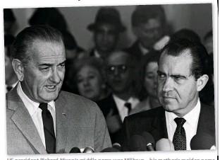 ??  ?? US president Richard Nixon's middle name was Milhous – his mother's maiden name