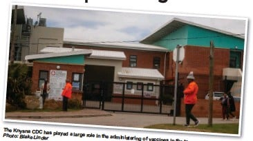 ?? Photo: Blake Linder ?? The Knysna CDC has played a large role in the administering of vaccines in the town.