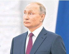 ?? REUTERS ?? Russian President Vladimir Putin has said handing over Russian cyber criminals to the United States would depend on formal agreements being reached by Moscow and Washington.