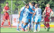 ?? HOCKEY INDIA ?? India ensured that they rotated the ball swiftly.