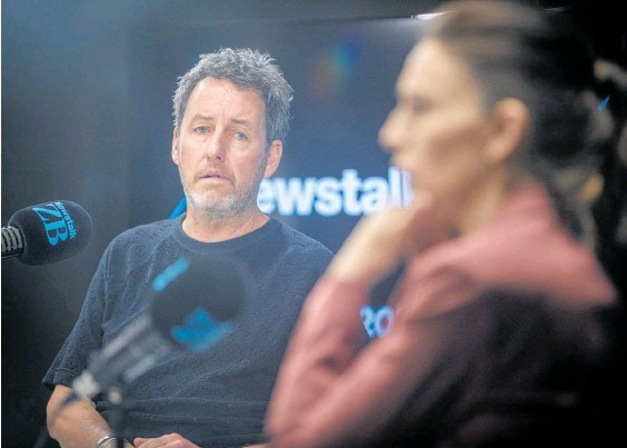 ?? Photo / Michael Craig ?? Mike Hosking and Jacinda Ardern have clashed on air in the past.