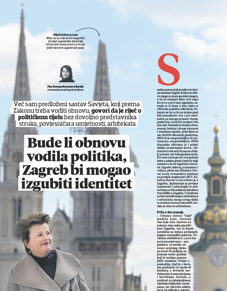??  ?? Slijedi složen proces Nitko ne sumnja da će neogotički tornjevi zagrebačke katedrale biti stručno restaurirani, no to nije jedini element uspješnosti posla
