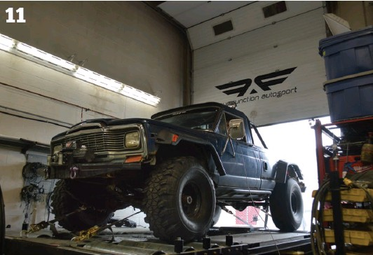 ??  ?? 11. Watching a set of unbalanced Super Swampers howl on a chassis dyno is an amazing experience and we fully recommend it…. from a distance… with a helmet on… and maybe a mouth guard. 11
