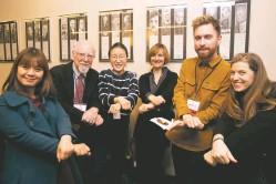 ??  ?? (Left to right) Global journalists Thi Thanh Ha Pham, Leo Wollemborg, Soyoung Min, Zeljka Drannigan, Karolis Vysniauskas, and Brittany Lynk.